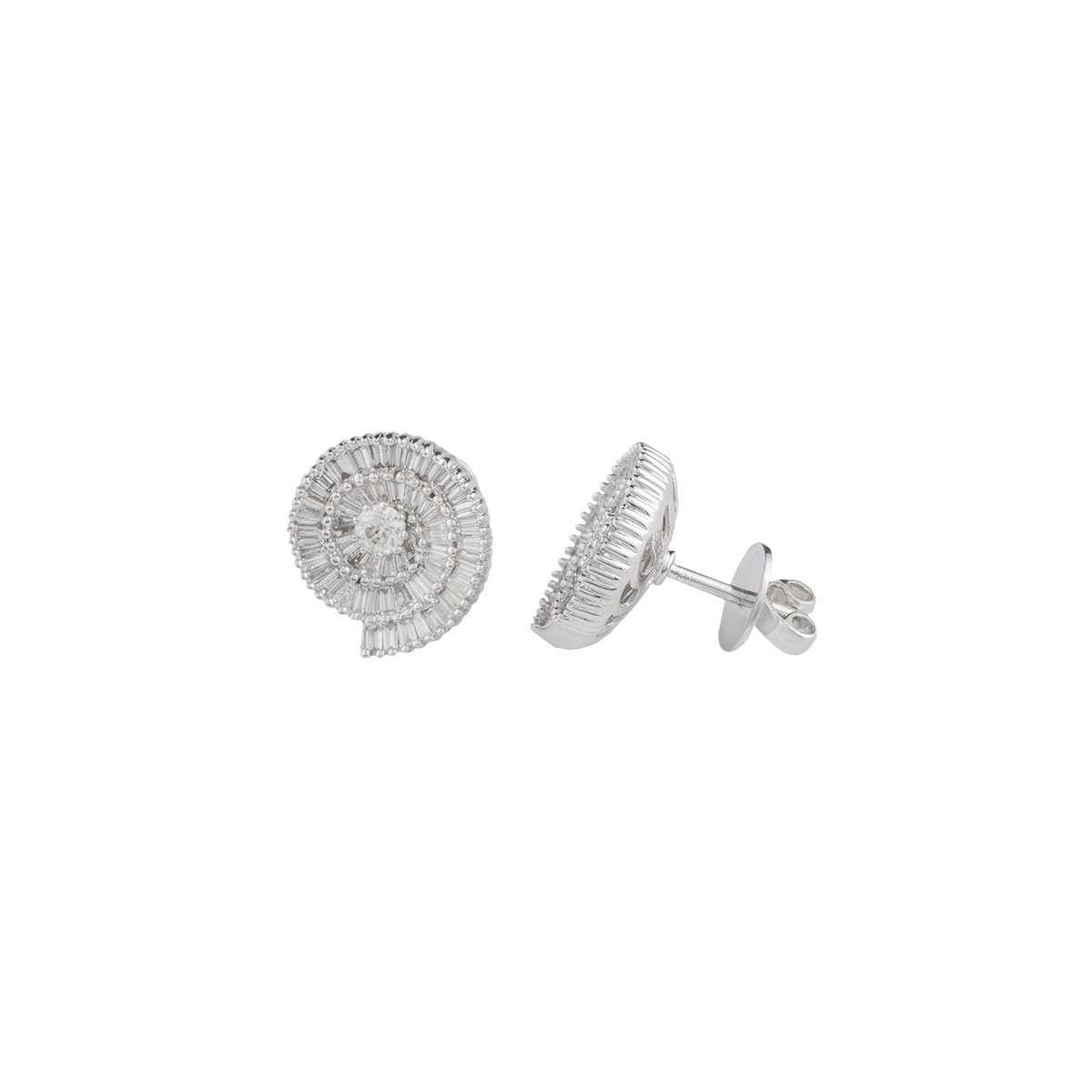 18k White Gold Diamond Set Earrings 2.35ct